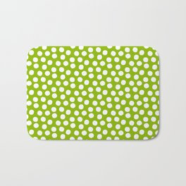 White Polka Dots on Fresh Spring Green- Mix & Match with Simplicty of life Bath Mat