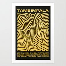 Tame Impala Currents Design Art Print