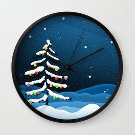Holiday Christmas Christmas Tree Wall Clock