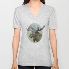 Moose head elk Unisex V-Neck