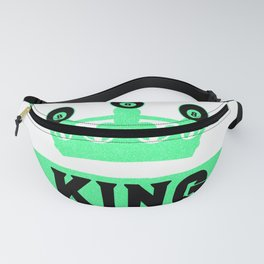 Billiard King with Crown Pool Snooker Fanny Pack