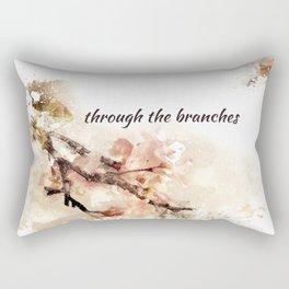 through the branches: haikushion Rectangular Pillow