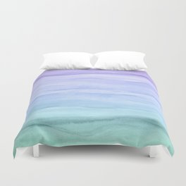 Layers Blue Ombre - Watercolor Abstract Duvet Cover