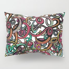 Squiggles in a Tangle Pillow Sham