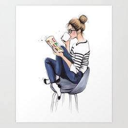 Coffee Break Art Print