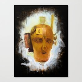 Dada Mechanical Head Painted Canvas Print