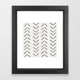 Mud Cloth Big Arrows in Cream Framed Art Print