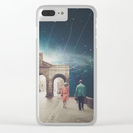 We met as Time Travellers Clear iPhone Case