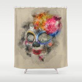Watercolour Mask Shower Curtain
