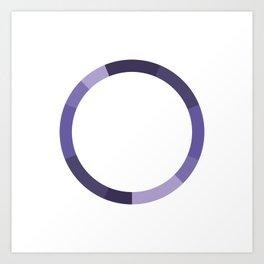 The Monochromatic Series: Purple Color Scheme Art Print
