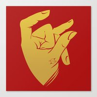 49ers Canvas Prints featuring OG SF - Red & Gold by Kris Mestizo