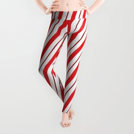 The Return of the Candy Cane - Christmas Illustration Leggings