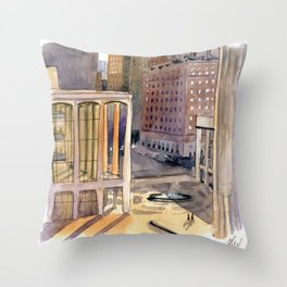 Lincoln Center Bathed in Light Throw Pillow