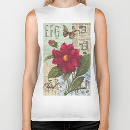 Ride with a Butterly and a Flower Biker Tank