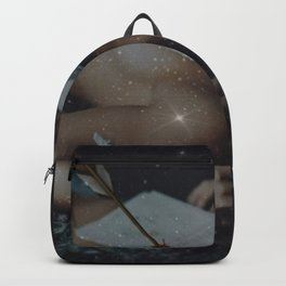 All That You've Left Behind - Girl with the Broken Heart Stars and Female Form portrait Backpack