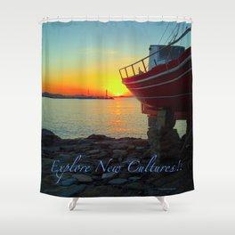 Explore New Cultures! Shower Curtain