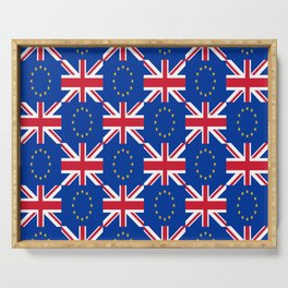 Mix of flag: UE and UK Serving Tray