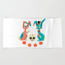 Tea Time Beach Towel