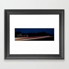 Midnight Blur Framed Art Print