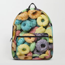 Rainbow Fruit Ring Cereal Photo Backpack