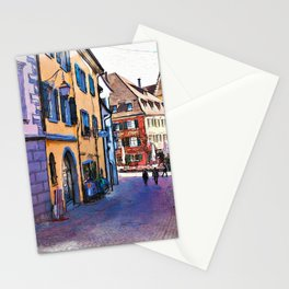 In the streets of Meersburg, Germany Stationery Cards