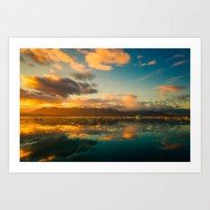 Icelandic panorama Art Print