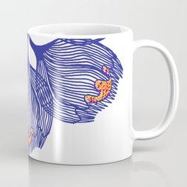 Blue spiral flower Coffee Mug