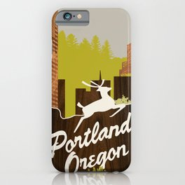 White Stag Sign, Portland Oregon iPhone Case