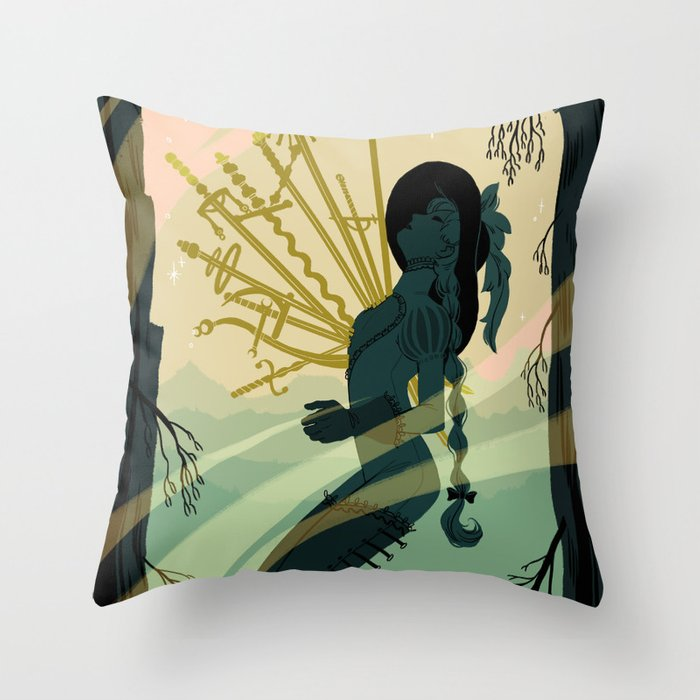 10 Of Swords Throw Pillow By Meexart Society6