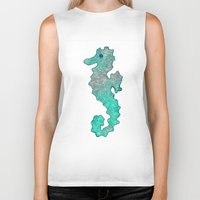 seahorse Biker Tanks featuring SEAHORSE by Catspaws