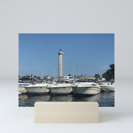 """""""Boats on Put in Bay"""" Photography by Willowcatdesigns Mini Art Print"""