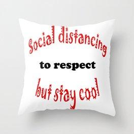 Social distancing Throw Pillow