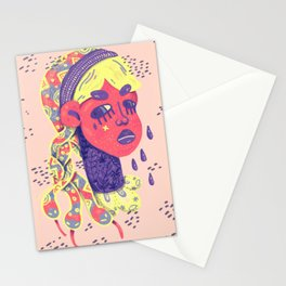 Angry medusa Stationery Cards