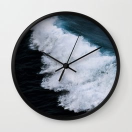 Powerful breaking wave in the Atlantic Ocean - Landscape Photography Wall Clock