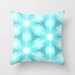 Sky Blue Floral Throw Pillow