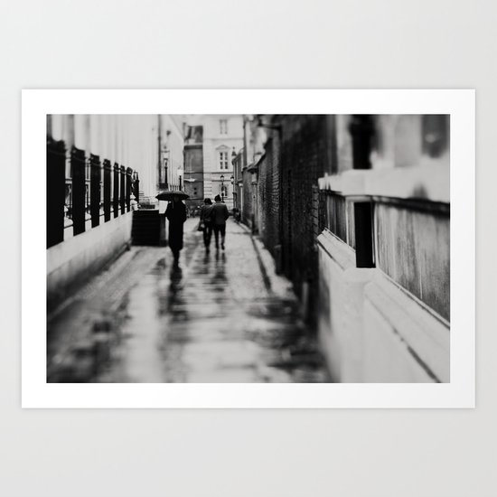 in black and white ...  Art Print