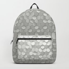 White hexagons Backpack