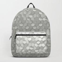 White hexagons Backpack