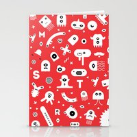 monsters Stationery Cards featuring Monsters by Vickn