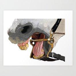 Horse Bite Art Print