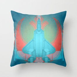 Into the future USAF F22 Throw Pillow