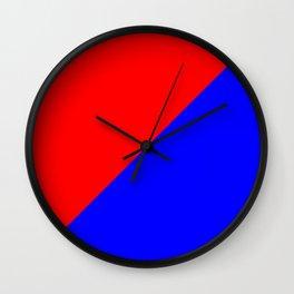 Modern MidCentury Design (Red & Blue) Wall Clock