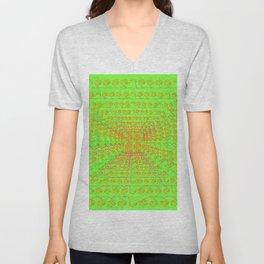 Perspective-pattern Unisex V-Neck