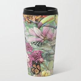 Flora and Fauna of Mexico Metal Travel Mug