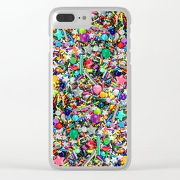 Rainbow Sprinkles - cupcake toppings galore Clear iPhone Case