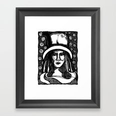 prada lady Framed Art Print