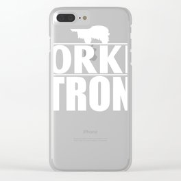 Yorkie Design Yorkie Strong Clear iPhone Case