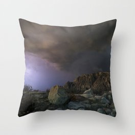 approaching pavonis mons Throw Pillow
