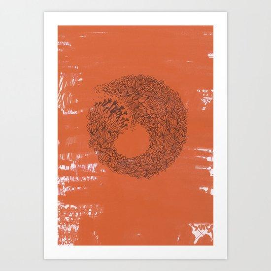 Home Orange Art Print