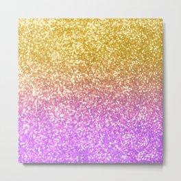Ametrine Glitter Bokeh Metal Print